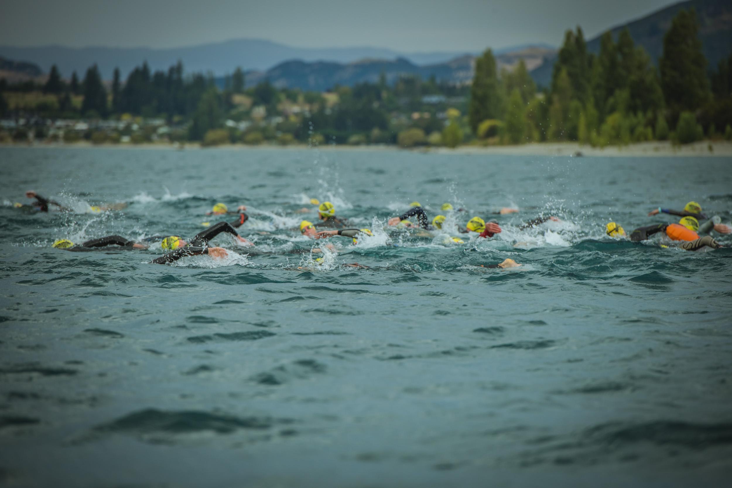 The foaming waters of Lake Wanaka