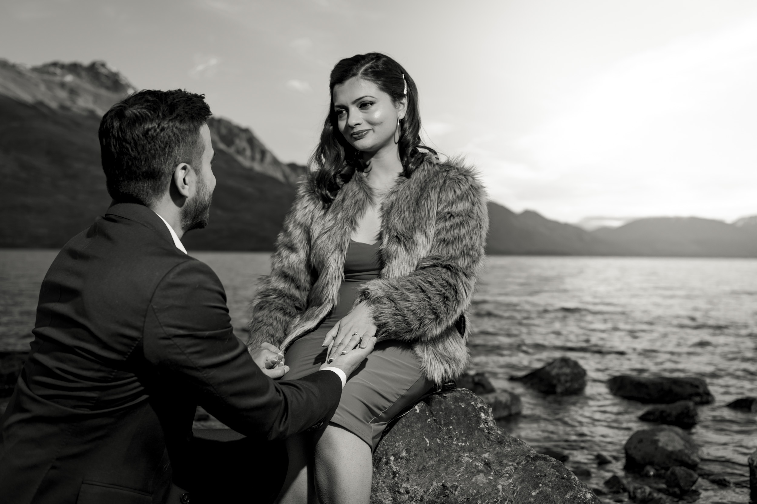 Popping the Question - Professional Engagement Photography - Queenstown NZ