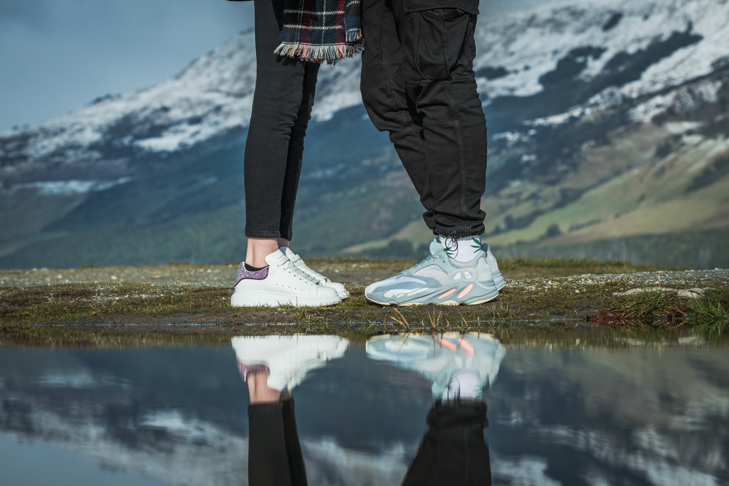 Alexander McQueen and Adidas Yeezy Wave runners - Professional Sneaker Photography