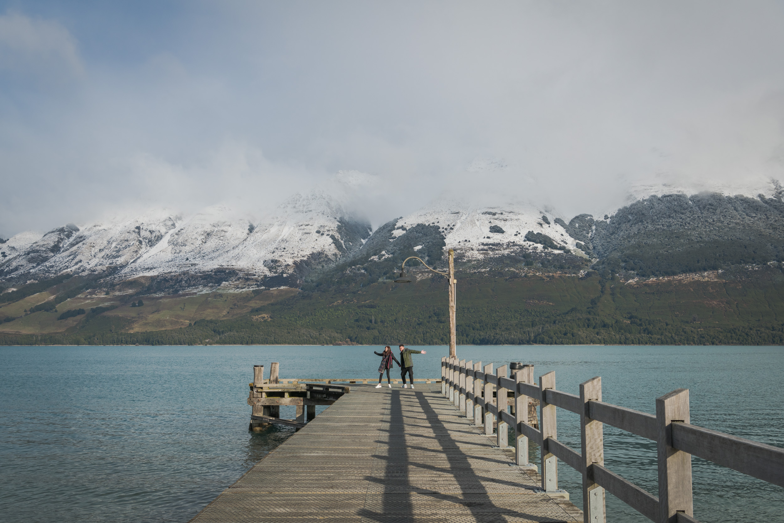 Glenorchy Wharf - The perfect destination for professional couple, engagement and wedding photography in New Zealand