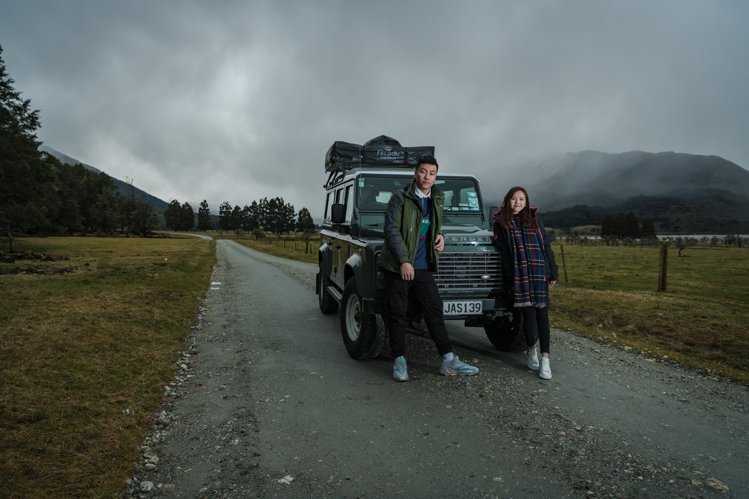 Our 2015 Land Rover Defender is perfect for driving around New Zealand's Backcountry Roads - It's an NZTA Passenger Certified Vehicle and both of us are Licensed Passenger Drivers