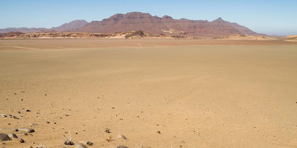 The pan at the beginning of the Desolation Valley, Namibia