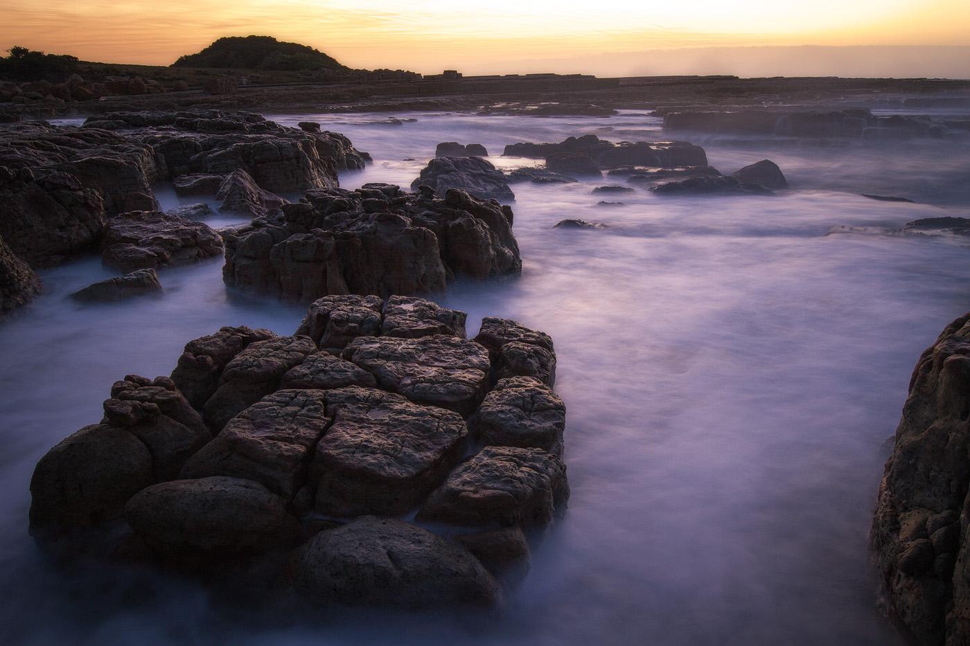 Castle Rock – Sea-beaten rocks near Luputhana.