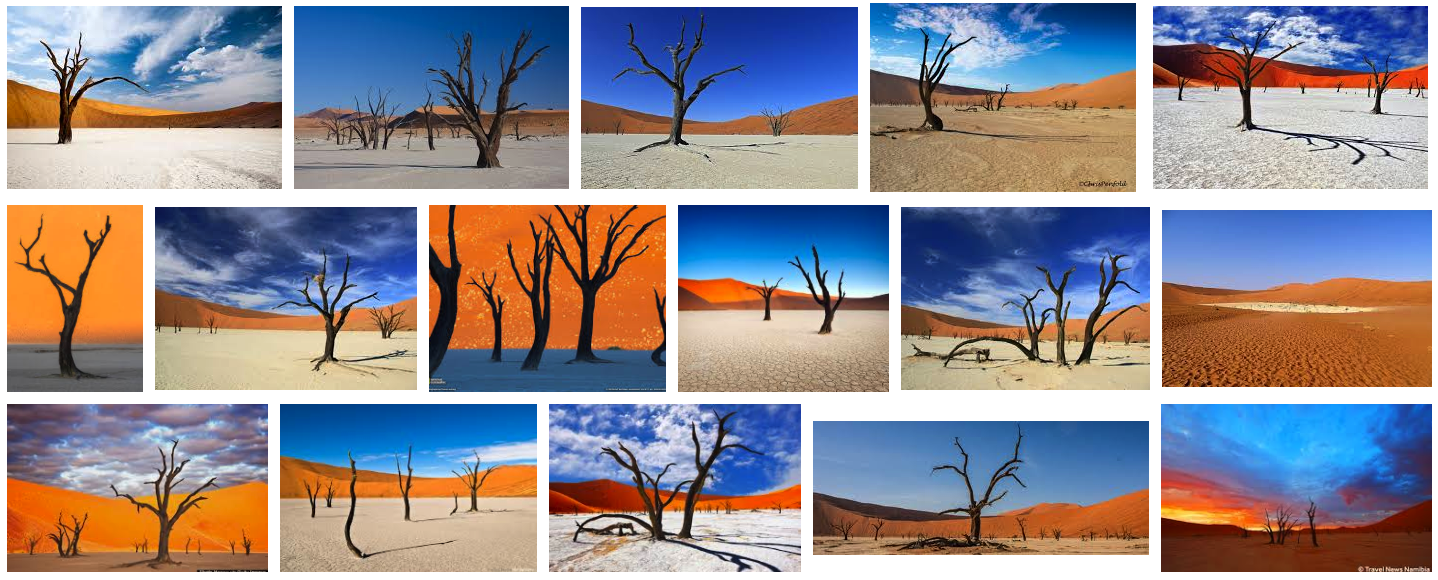 The results of a Google Images search for the term 'deadvlei'.