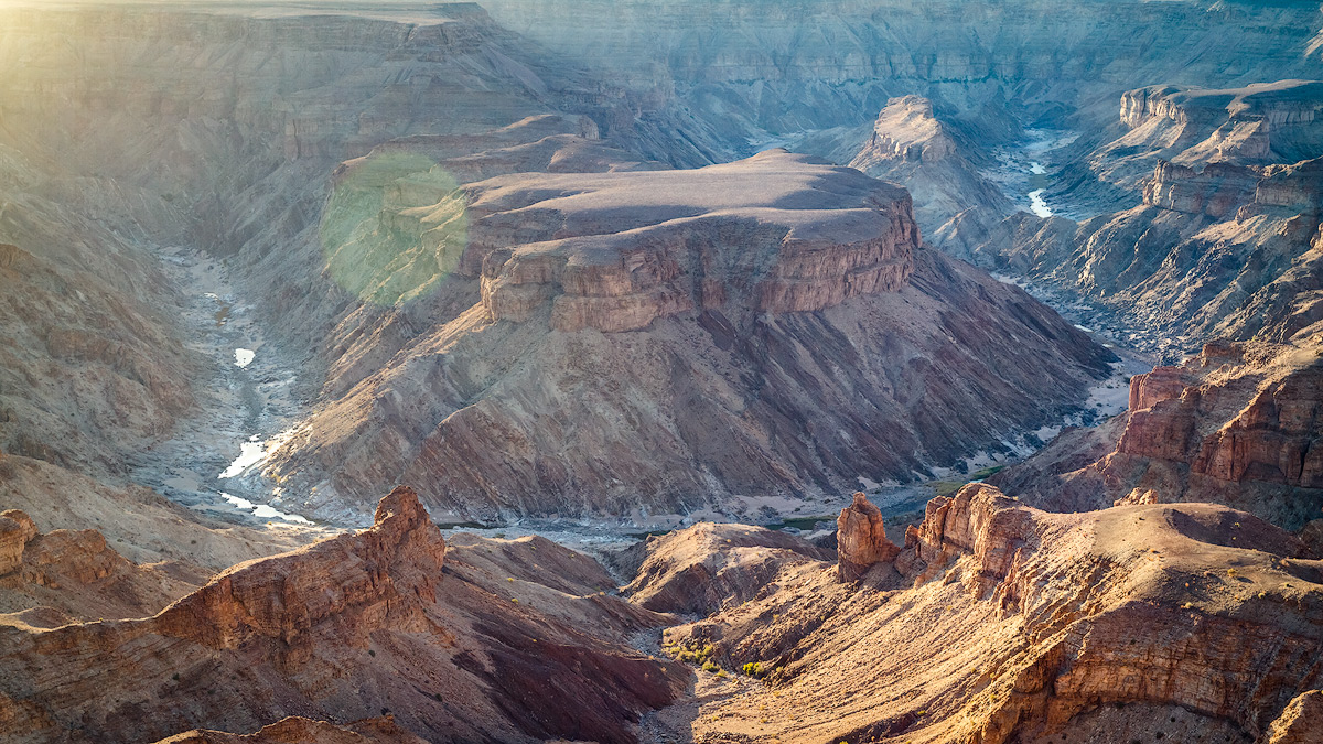 The Fish River Canyon photographed with a Canon EF 16-35mm f/4L