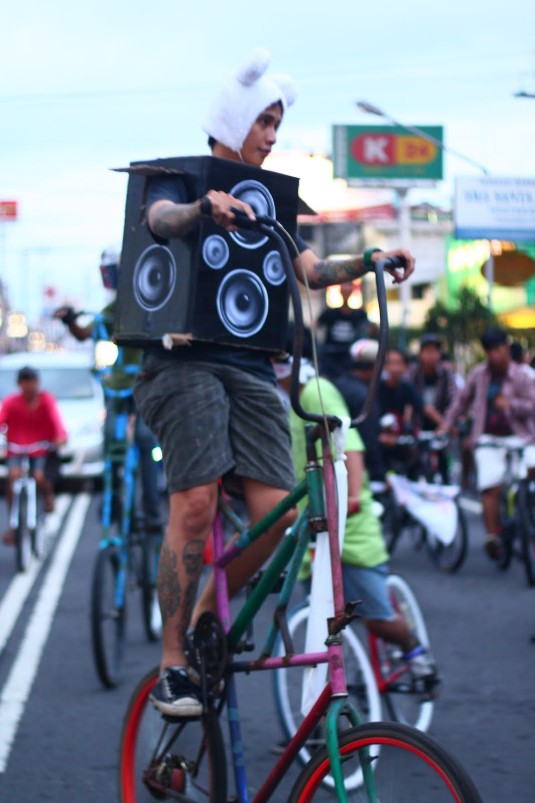 Tall Bikes, Bike Parade, Yogyakarta, Roda Roda Soundsystem, 2010