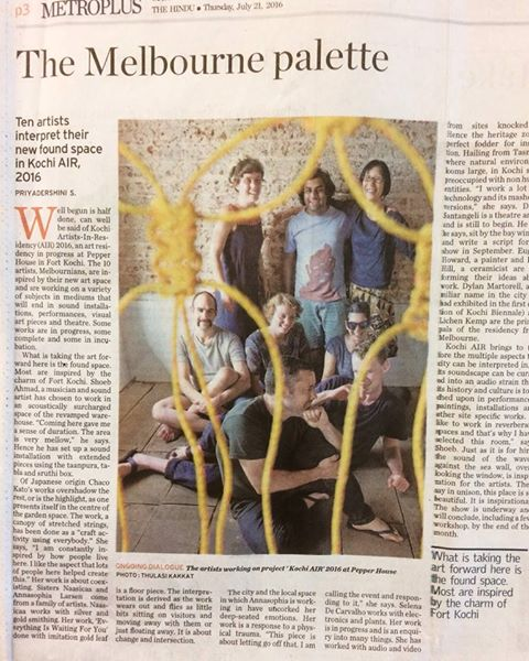 Read article in full;http://www.thehindu.com/todays-paper/tp-features/tp-metroplus/The-Melbourne-palette/article14499561.ece