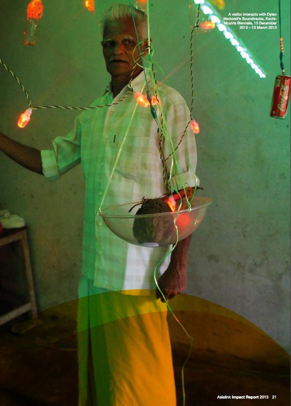 Soundtracks, Dylan Martorell, Kochi Muziris Biennale, India 2012/13, image from Asialink impact report 2013