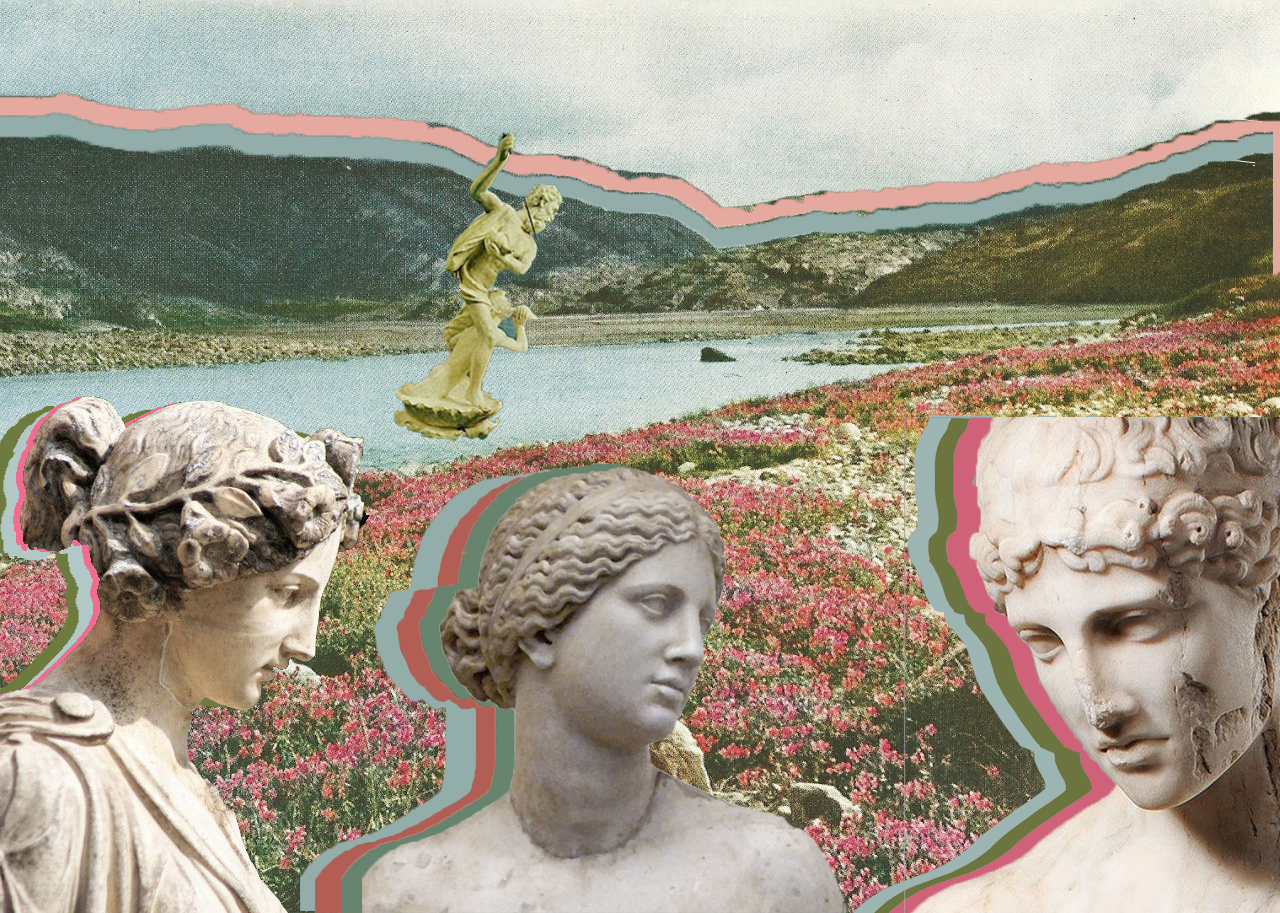 collage by Inez Martorell, Greece 2017