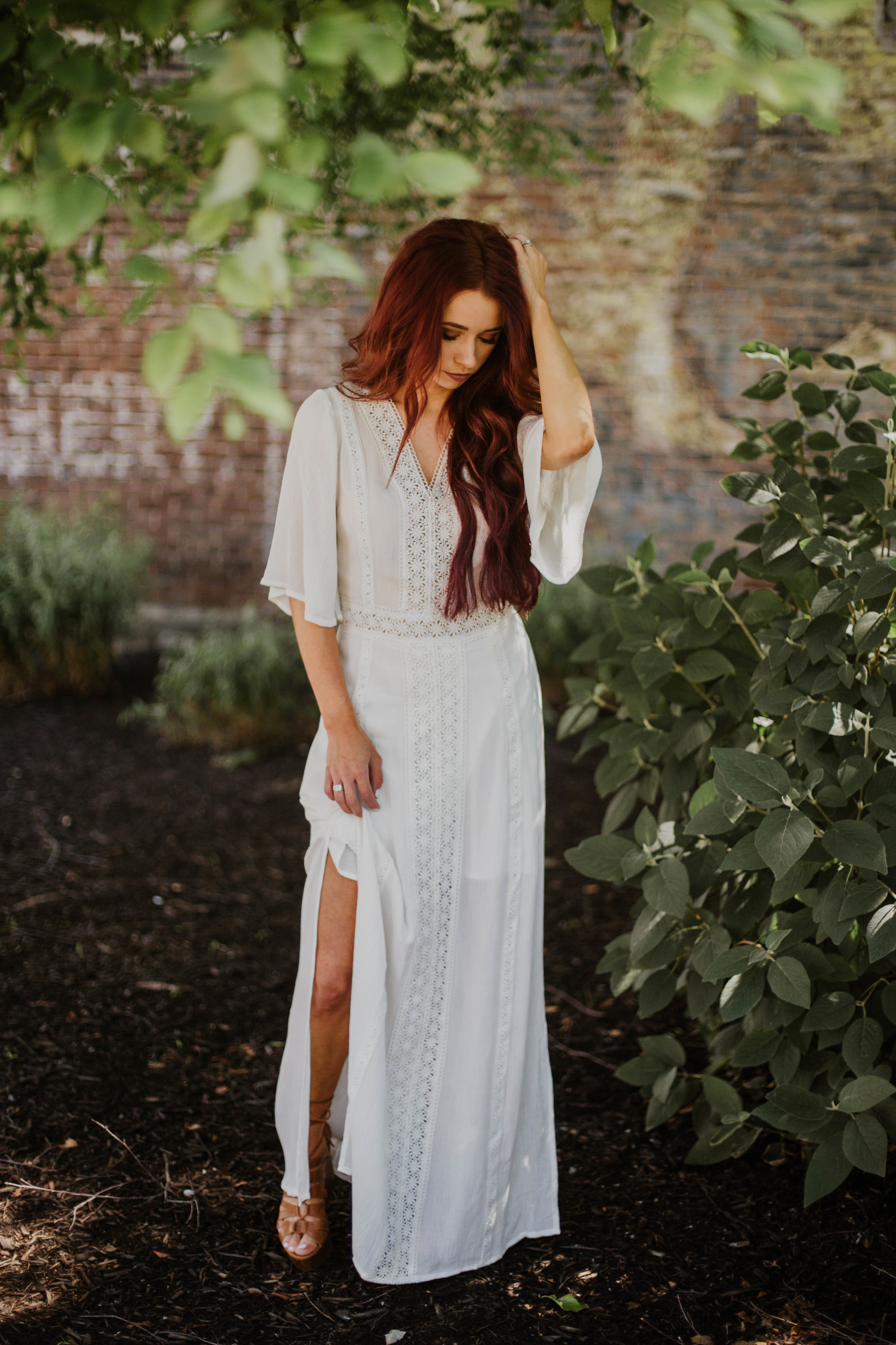 White Maxi,  Red Dress Boutique  ||  Monat Hair Care  || Extensions,  Extensions by Marie  || Photography,  DeKam Studios