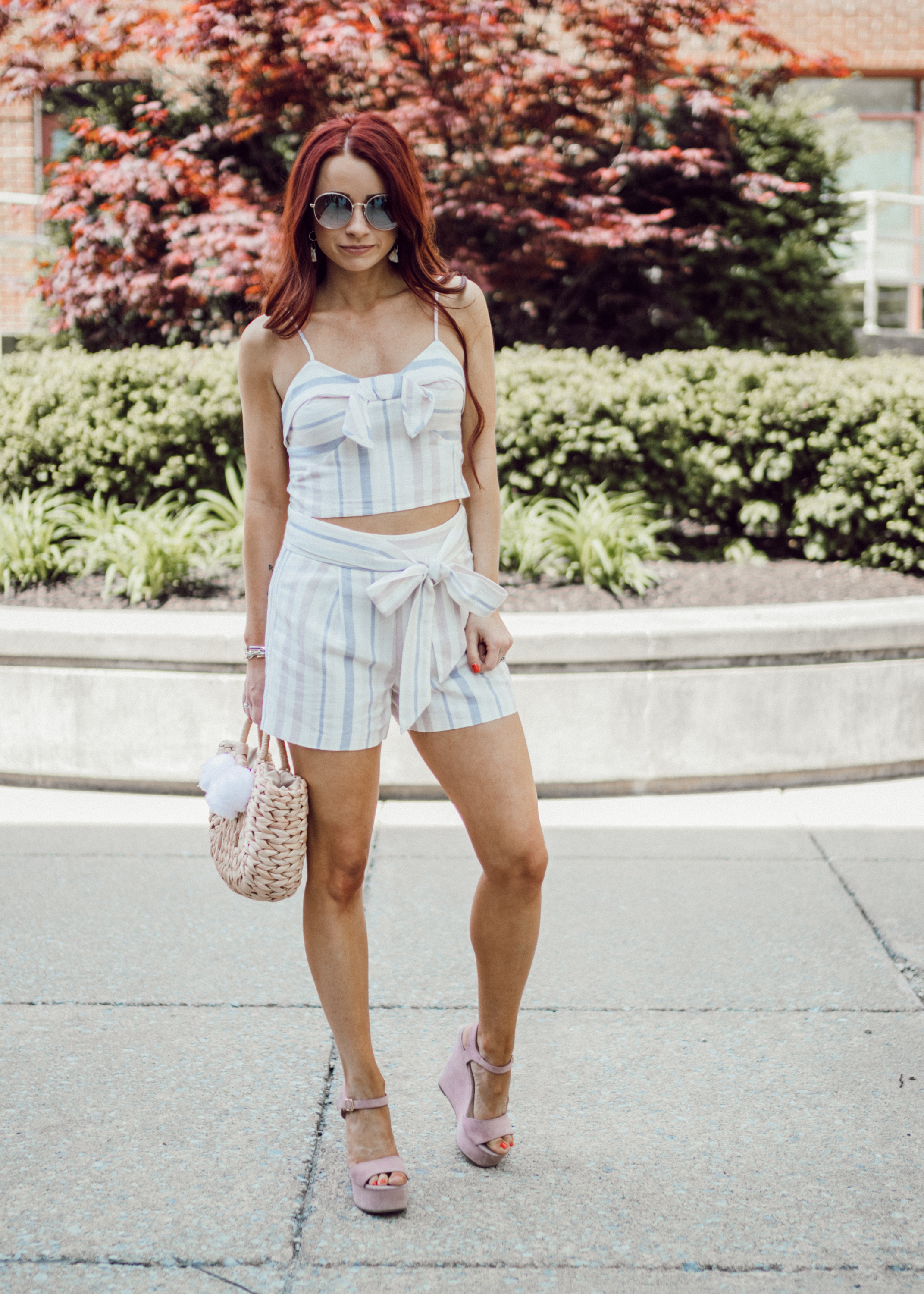 Top , Express ||  Shorts , Express || Shoes (similar  here ,  here , and  here )