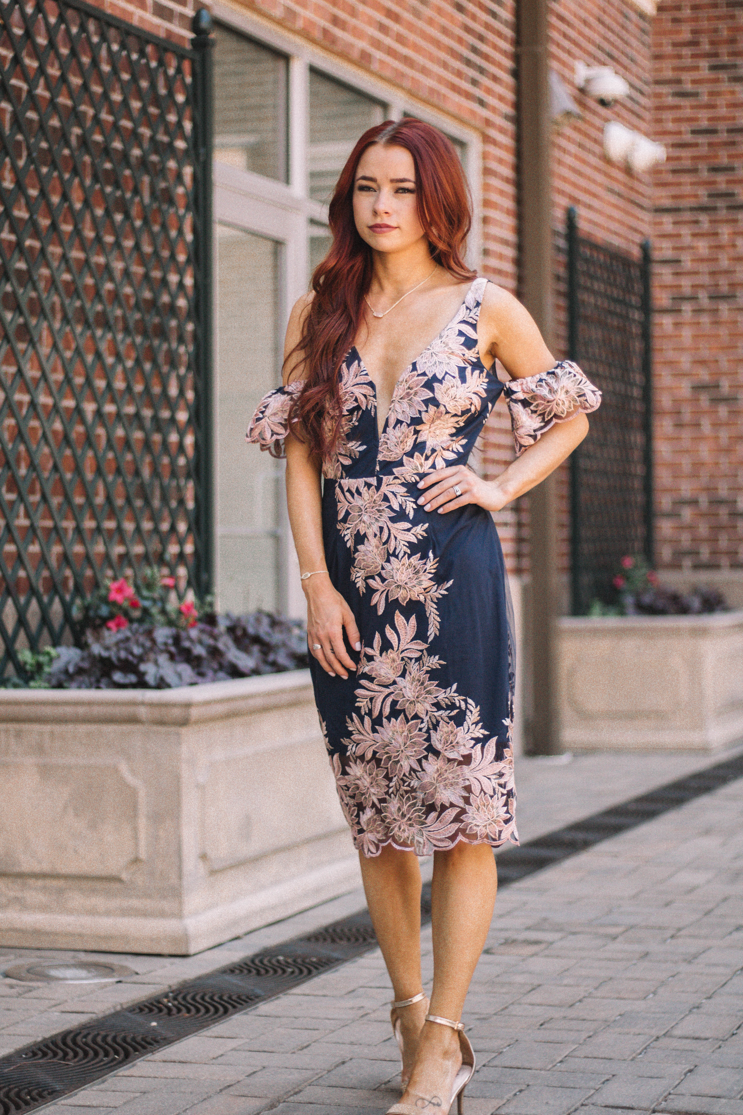 Cute Summer Wedding Guest Dresses with Ella Mae's featured by popular Indianapolis fashion blogger, Trendy in Indy