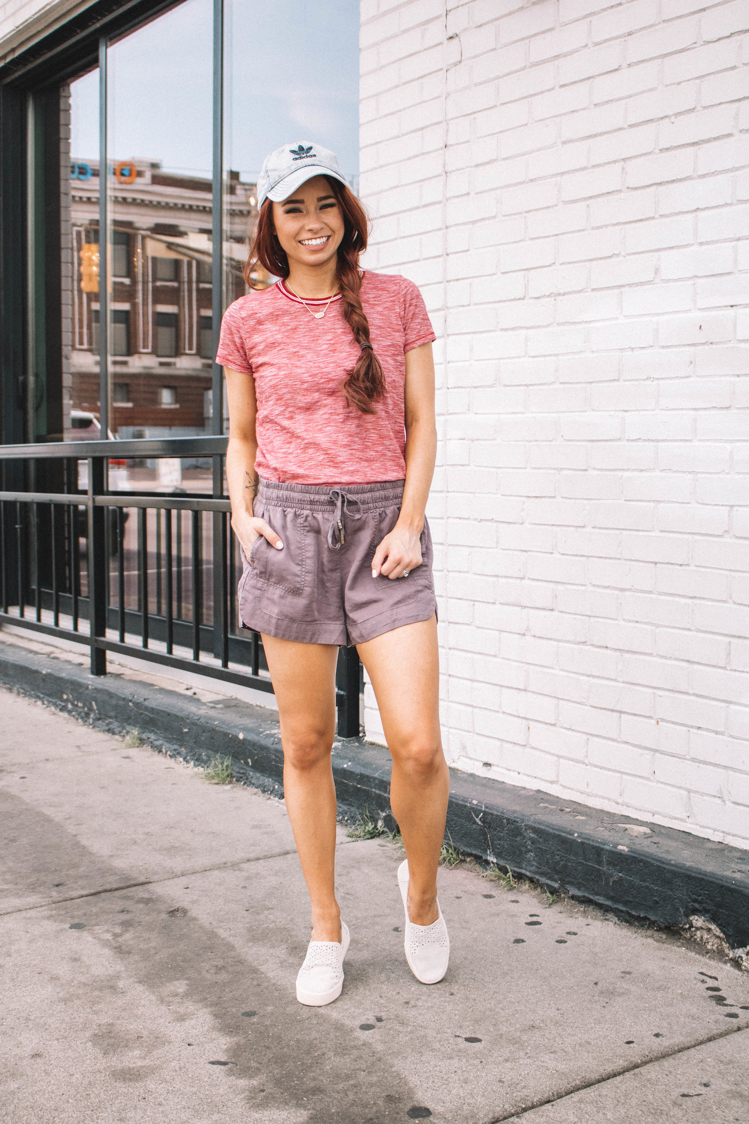 Magnolia Boutique Summer Shorts styled by popular Indianapolis fashion blogger, Trendy in Indy