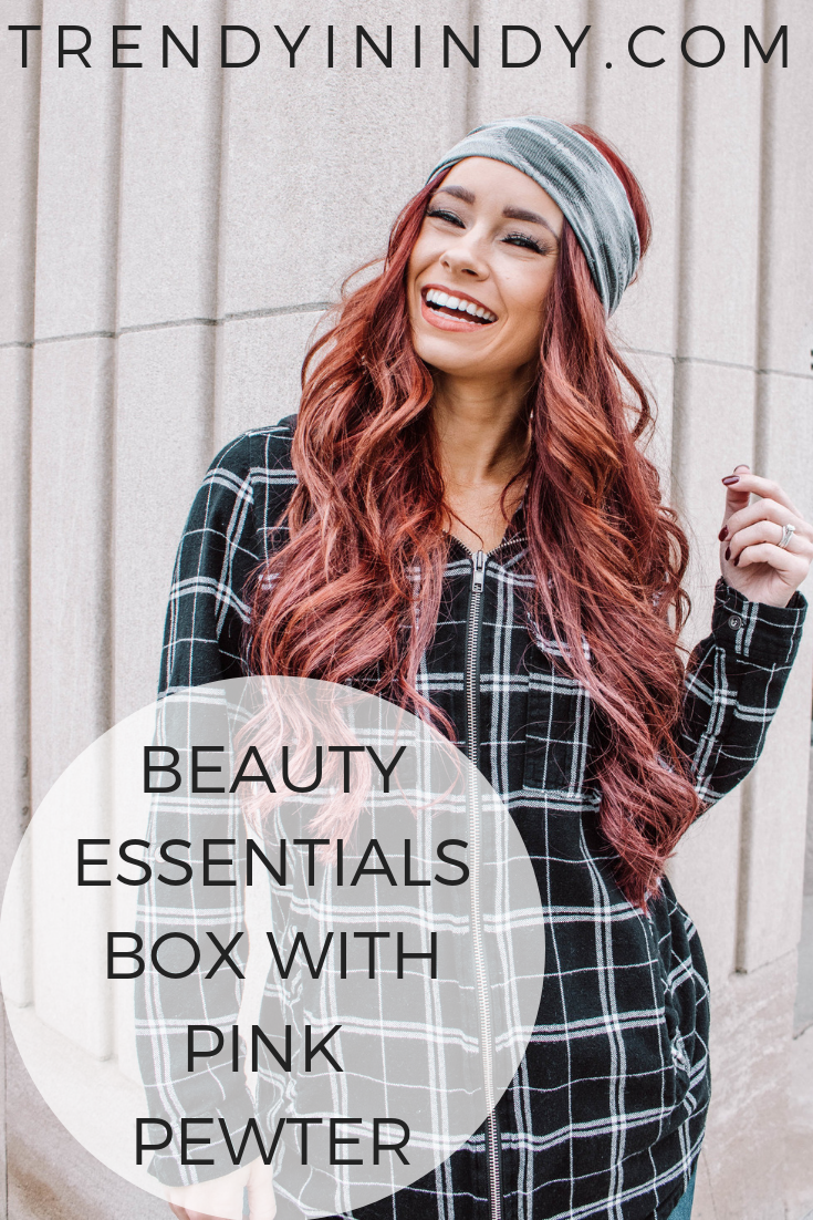 Beauty Essentials Box with Pink Pewter featured by top Indianapolis beauty blog, Trendy in Indy