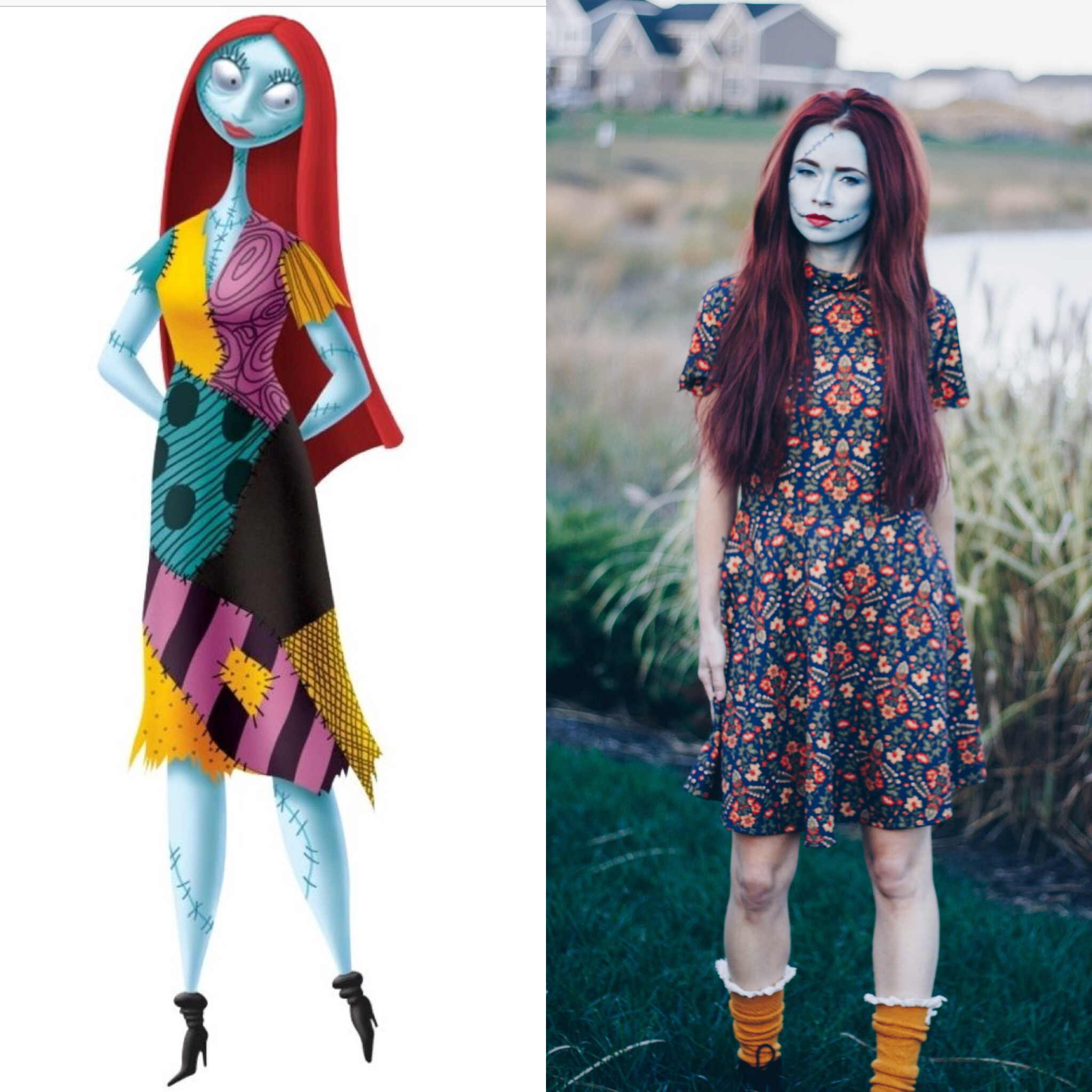 DIY Halloween Costume Ideas featured by top Indianapolis life and style blog, Trendy in Indy : Sally of Nightmare Before Christmas