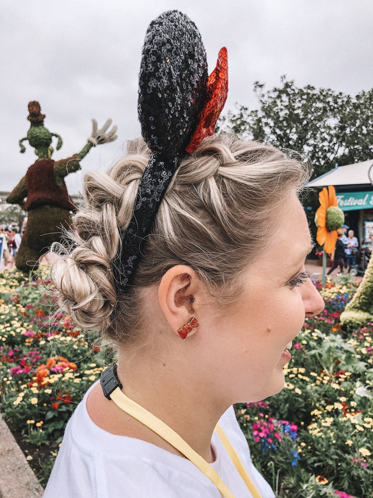 Top 5 Easy Hairstyles for Mickey Ears featured by top US beauty blog, Trendy in Indy: image of dutch braided buns