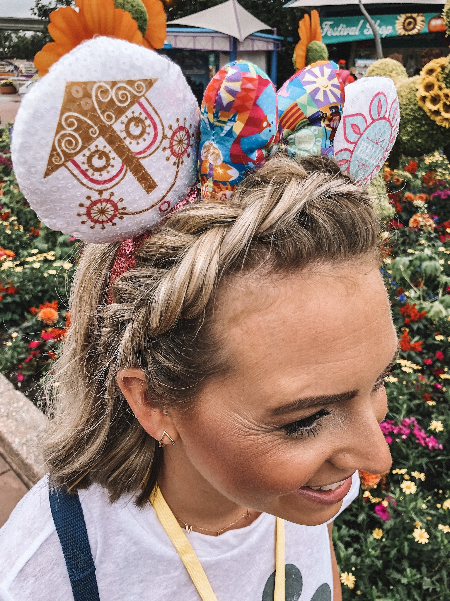 Top 5 Easy Hairstyles for Mickey Ears featured by top US beauty blog, Trendy in Indy: image of fishtail braided headband
