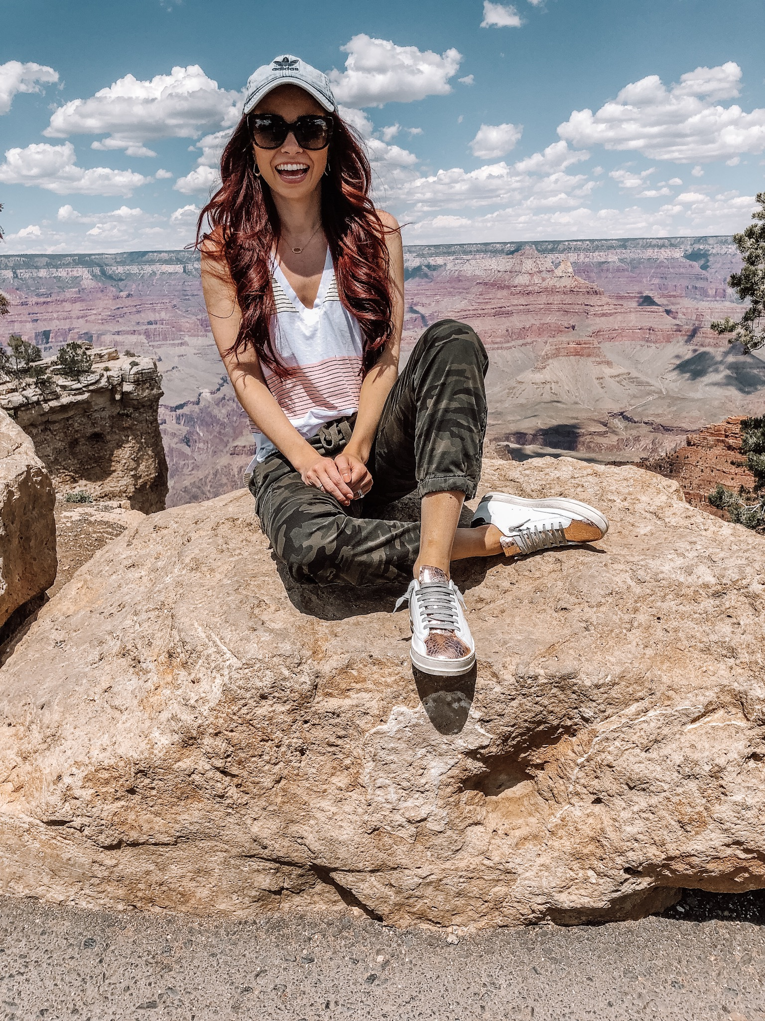 SHOP MY GRAND CANYON OUTFIT:    Tank  ||  Camo Troopers  ||  Sneakers  ||  Dr. Tavel Sunnies  ||  Hat