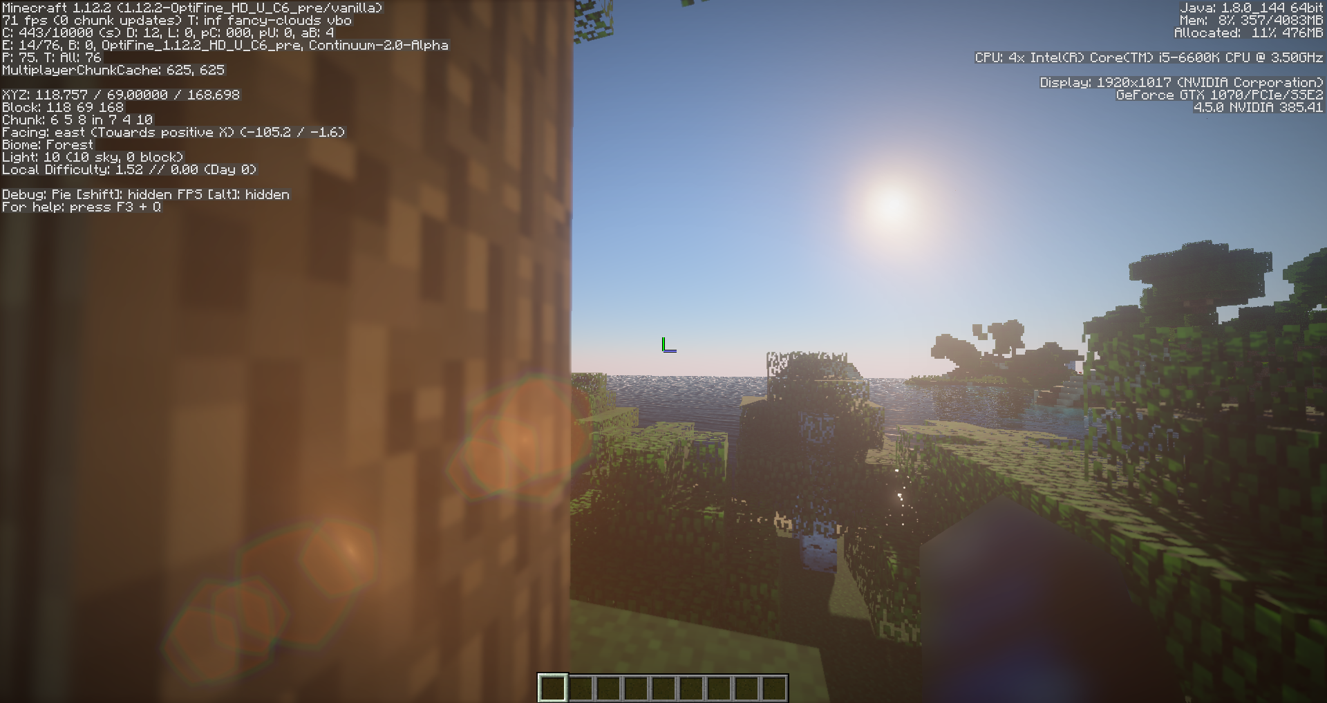 This is the FPS at which the Volumetric Renderer found in blog post 1 is disabled