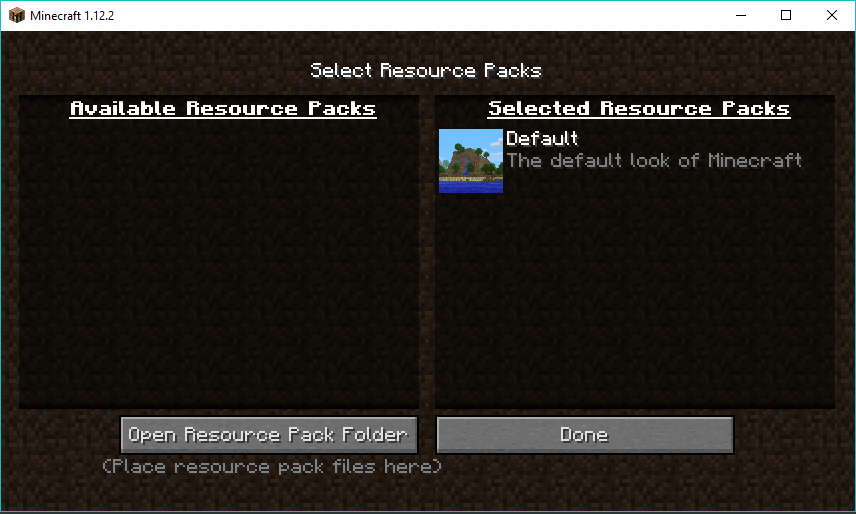 Navigate to Options>Resource packs, and open the resource pack folder