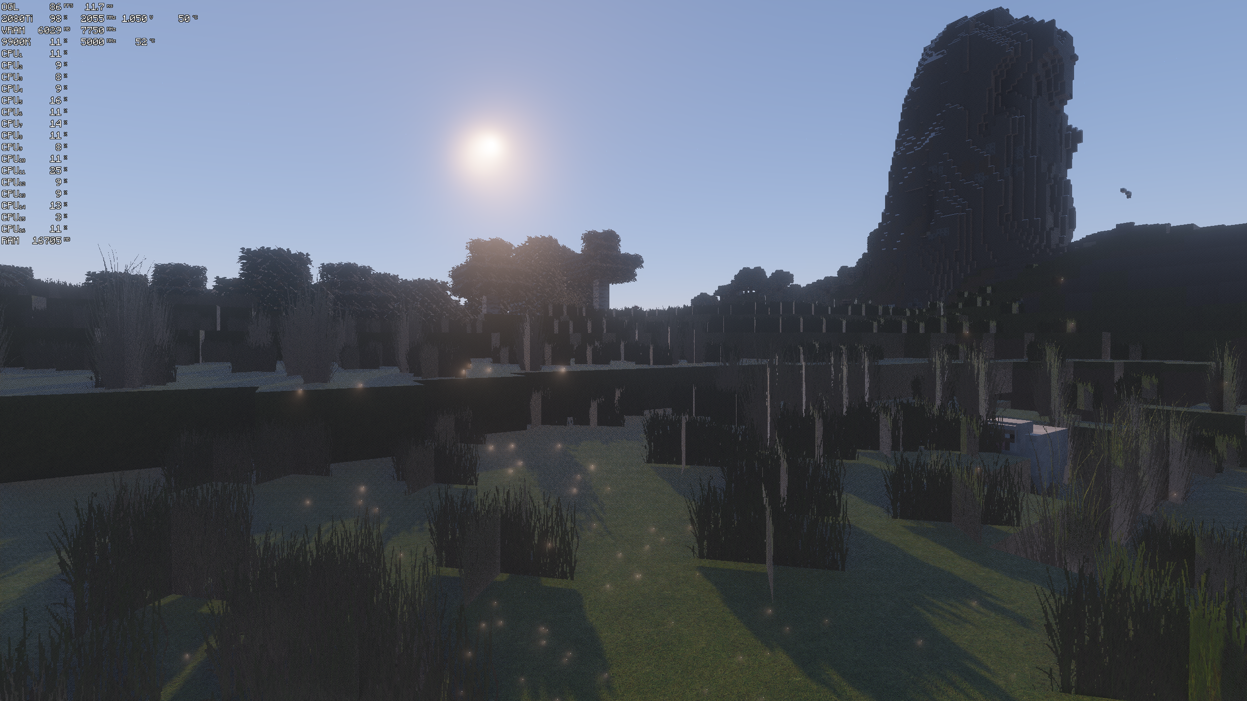 2.0 Alpha, also after ~5 months of development (click to enlarge, FPS in top left)