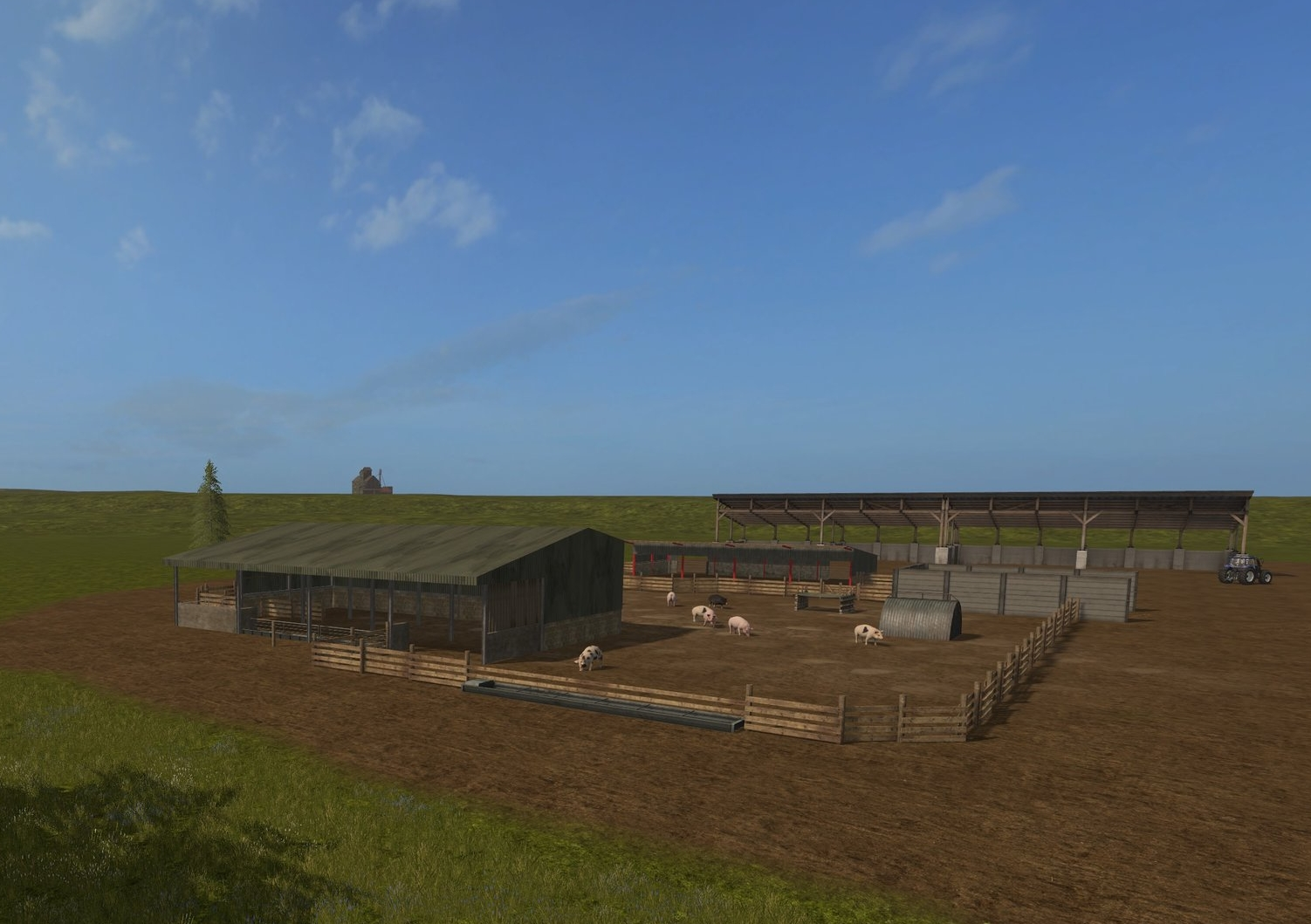 Pig enclosure with new shed