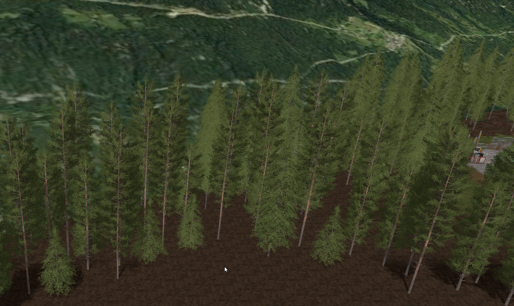 Border made with tree objects