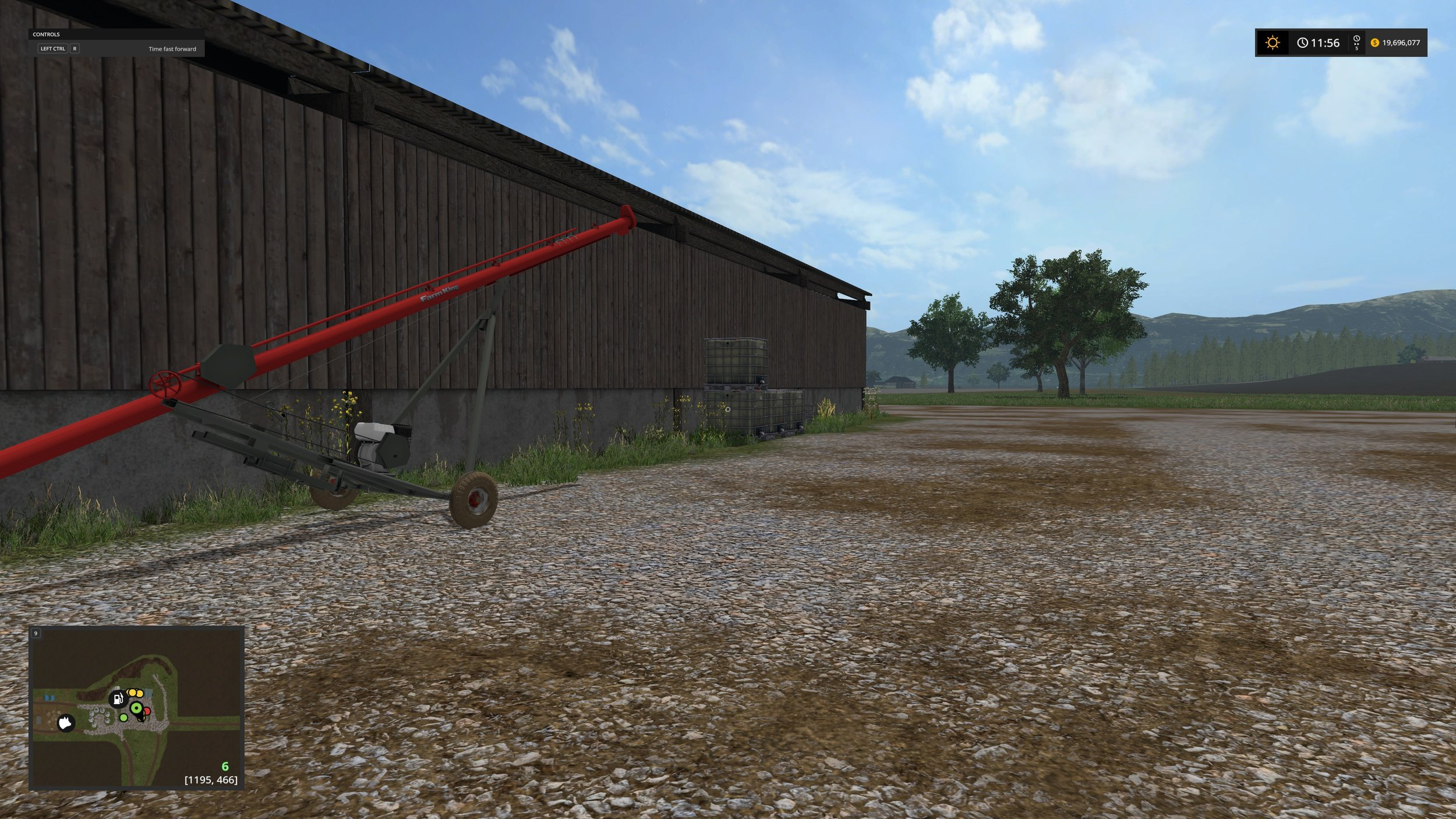 The same barn after adding some detail