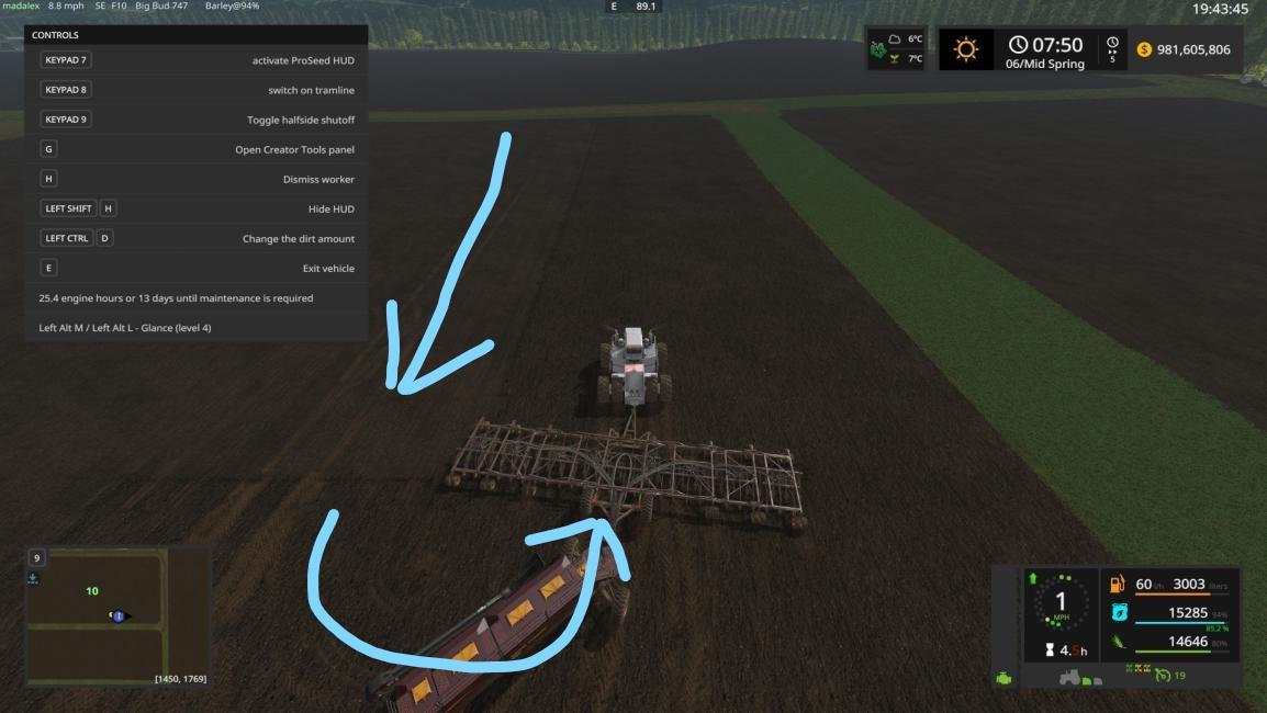 Helper AI turning mid-field