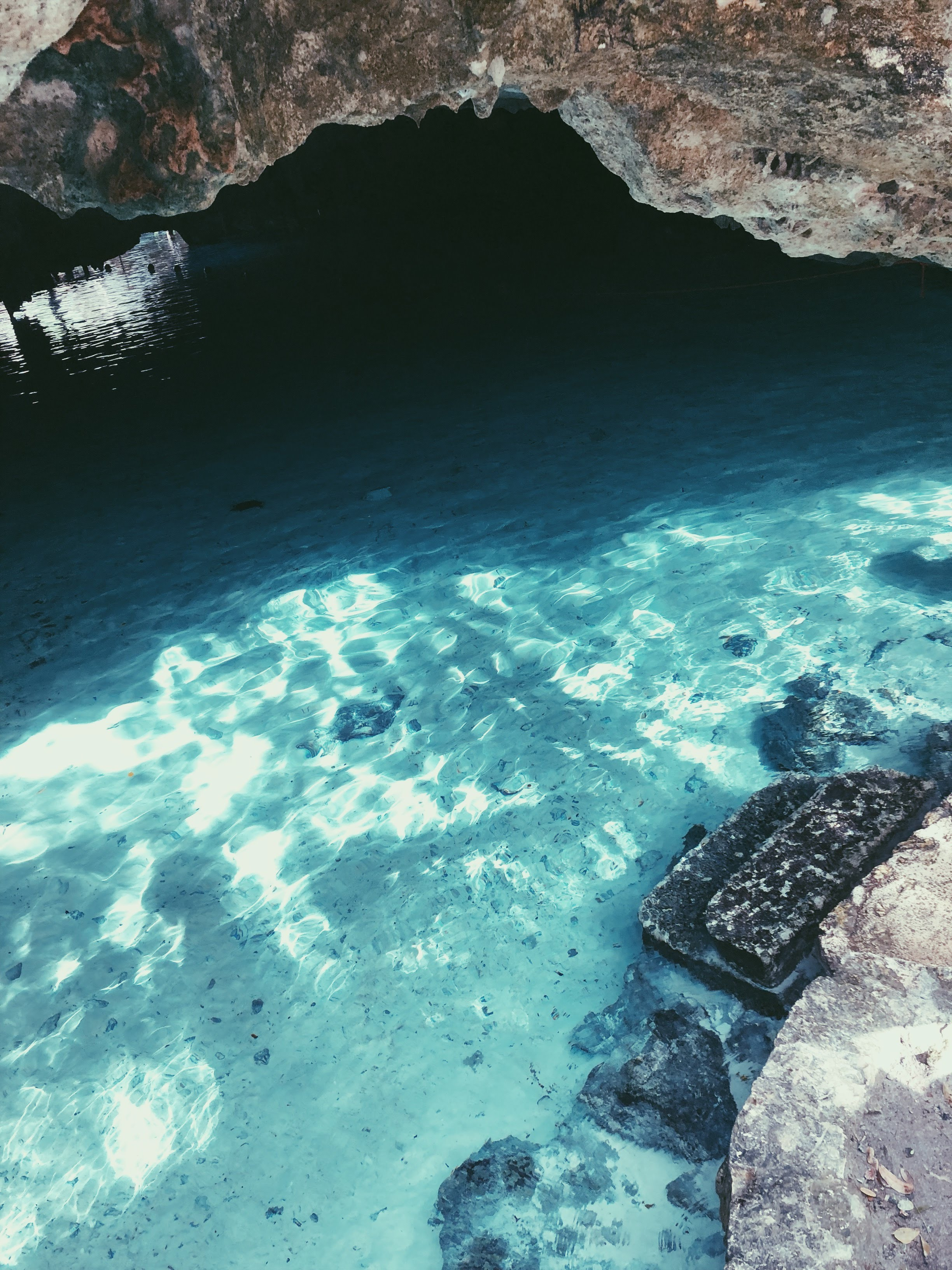 Crystal clear waters at the Grand Cenote