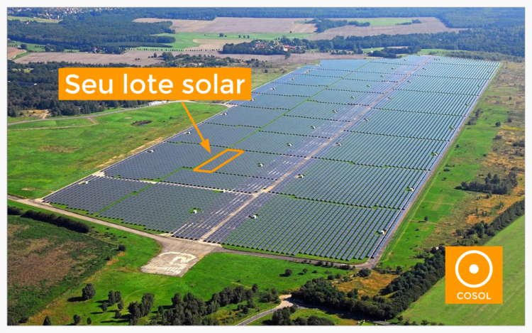 Illustrative image of a shared PV power plant in Brazil. - Sponsor its marketing to become an exclusive supplier.