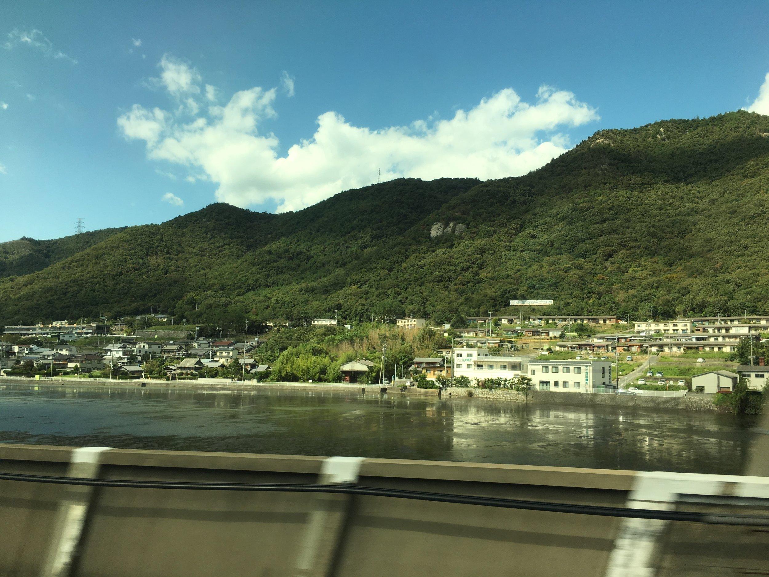Travelling to Hiroshima via Bullet Train.