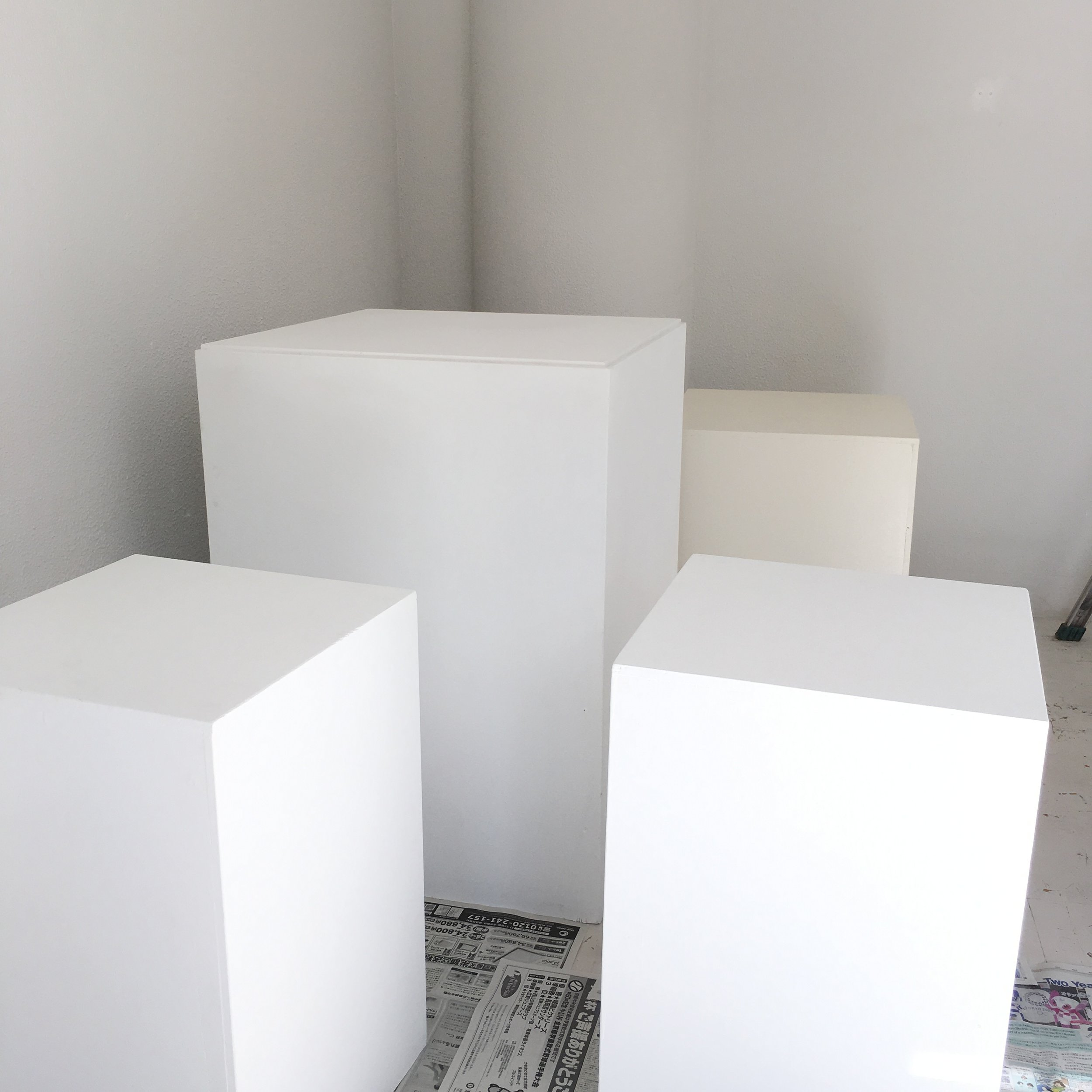 Late night cleaning the plinths.