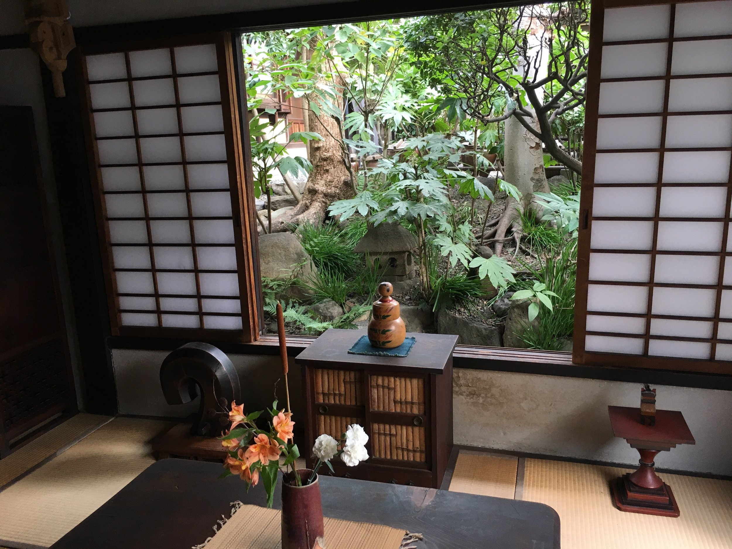 Departing … made a little easier in Kawai Kanjiro's Museum in Kyoto.