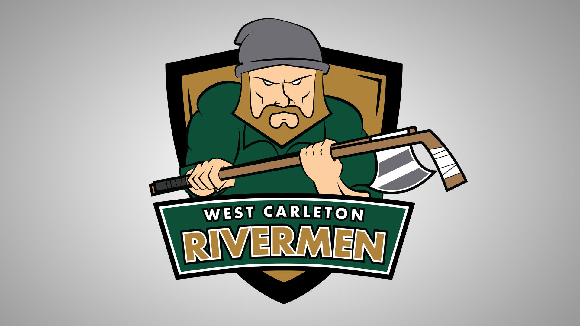 WEST carleton    rivermen branding   graphic design
