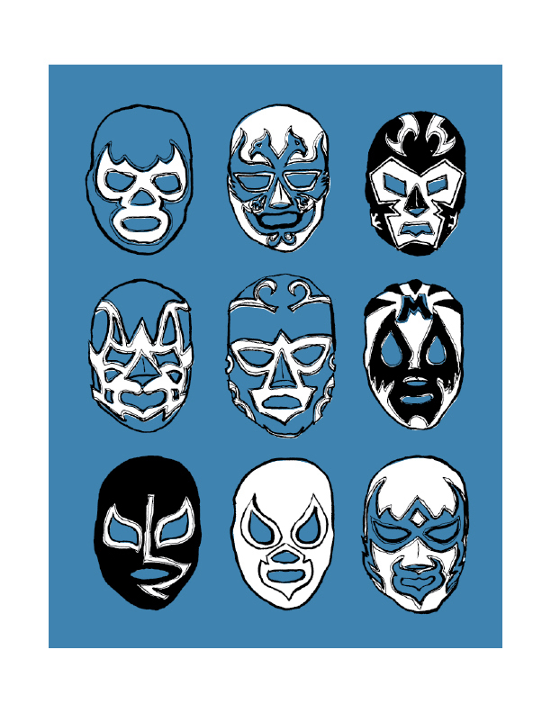 Heroes Del Ring - Limited edition screen print.