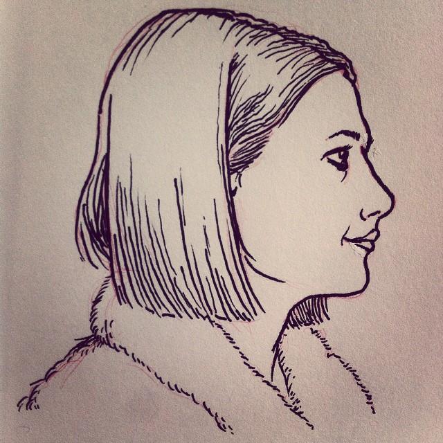 Margot Tenenbaum sketchbook illustration.