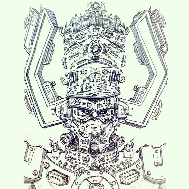 Galactus. Sketchbook illustration.
