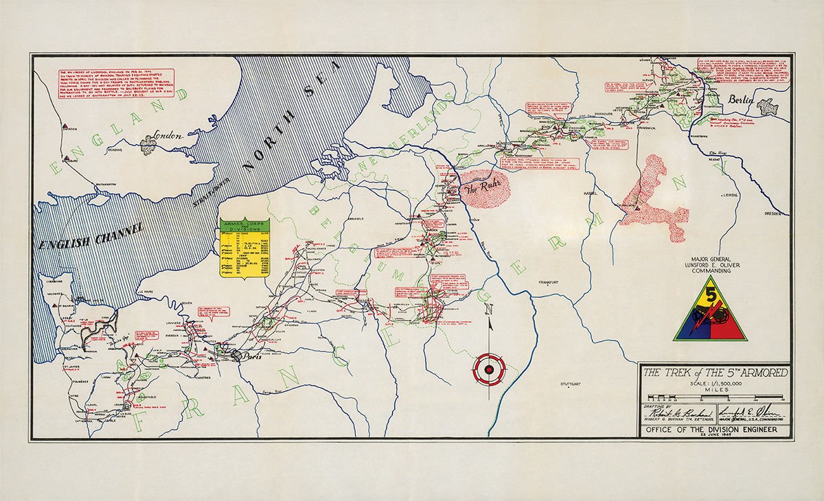 5th Armored campaign map