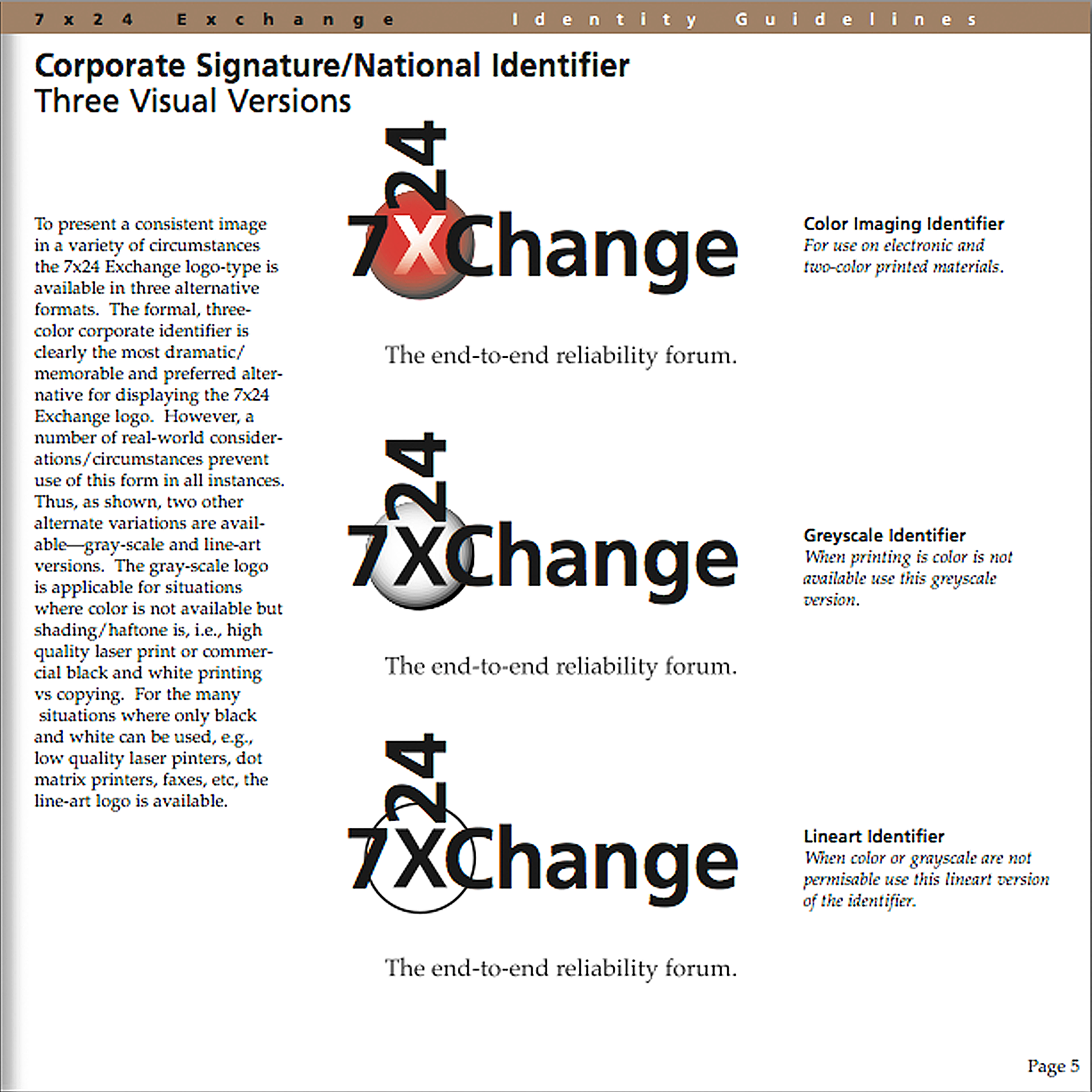 7x24 Exchange   Originally named the Uninterruptible Uptime Users Group (UUUG), an association known to few Facilities Managers. The new name and identity broadened the membership of the organization.