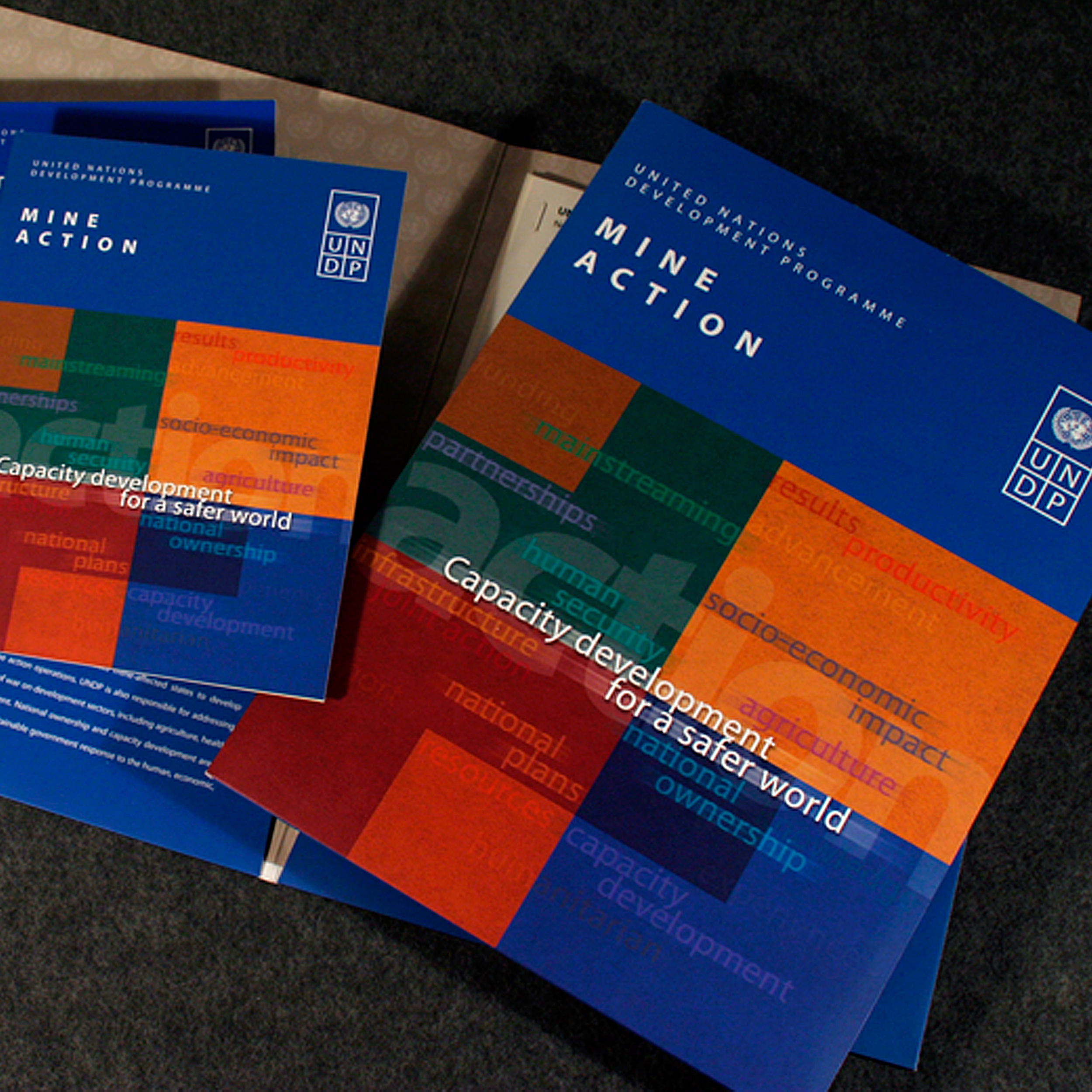 Mine Action – Conference Package   An informative and fundraising package for UNDP Mine Action section, first designed for a conference, then continued as a informative and fundraising package.