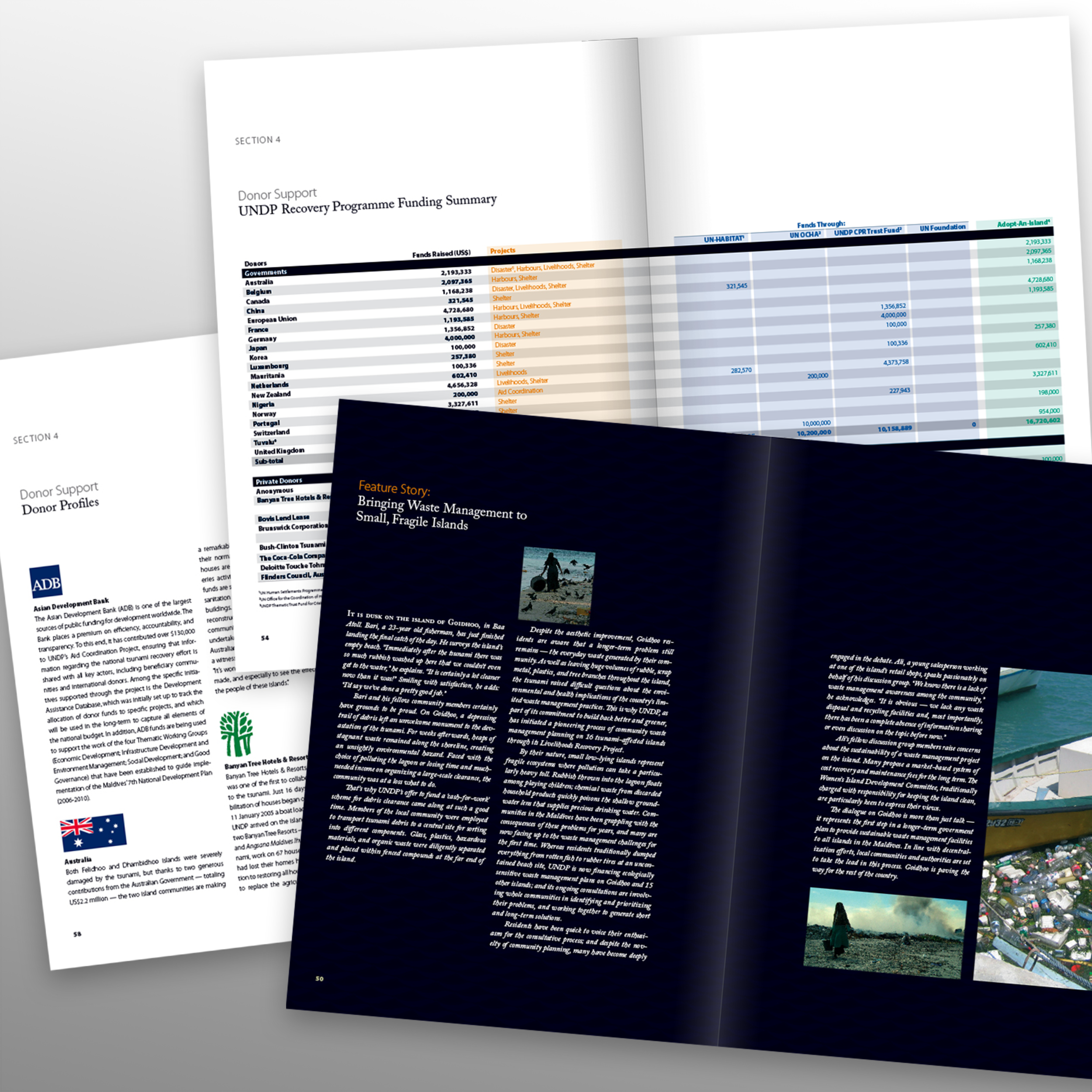 Defining Success' report – Tsunami Recovery   'Tsunami Recovery in the Maldives, 2004-2006. Text spreads. 82 pages
