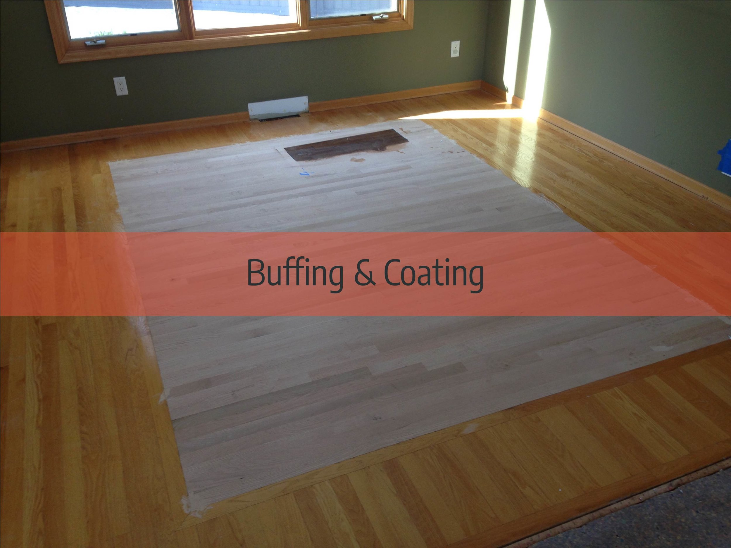 hardwood floor buffing & coating