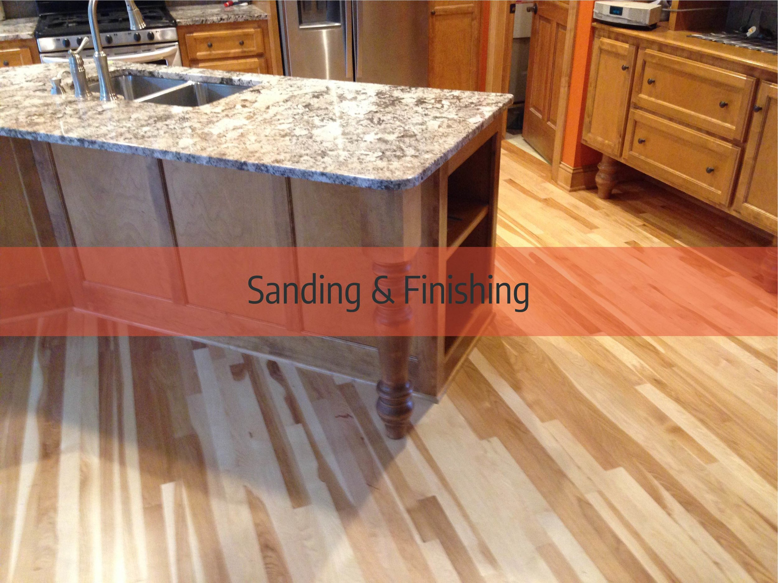 Hardwood floor sanding & finishing