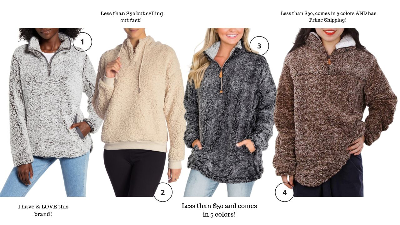 Sherpa pullover, fall style, fall staples