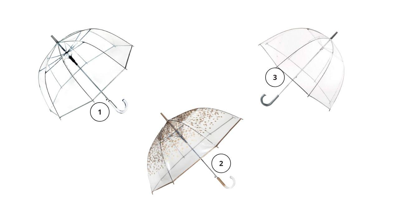 Clear umbrella, rainy day style, fall
