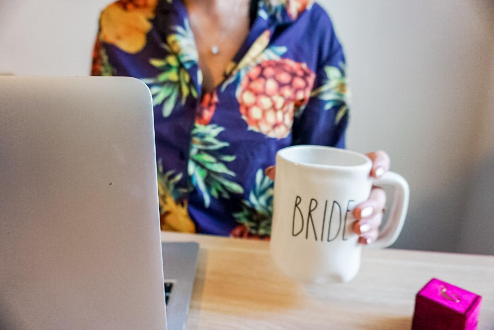 Olivia Shea Style, Wedding Registry, Bride Mug