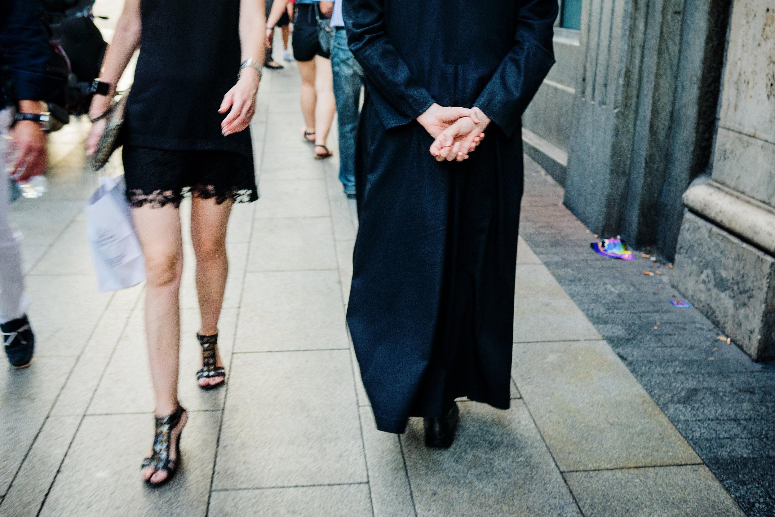Mini skirt vs Priest