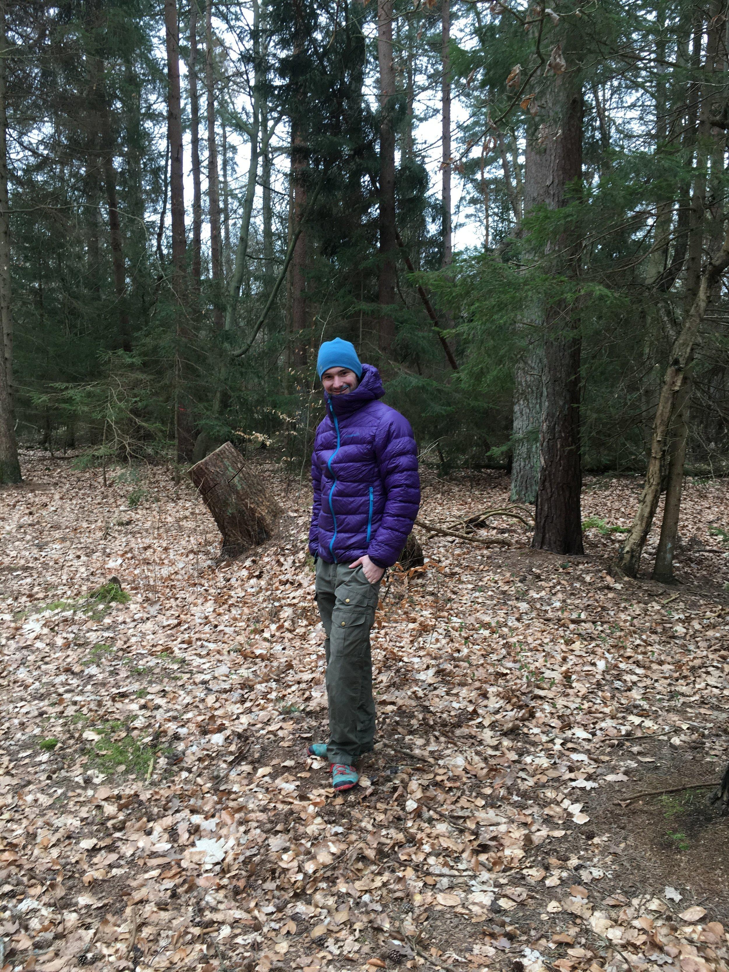 Jakken gør sig også god på en kølig vinterdag i de danske skove.  Foto: Johanne Conrad