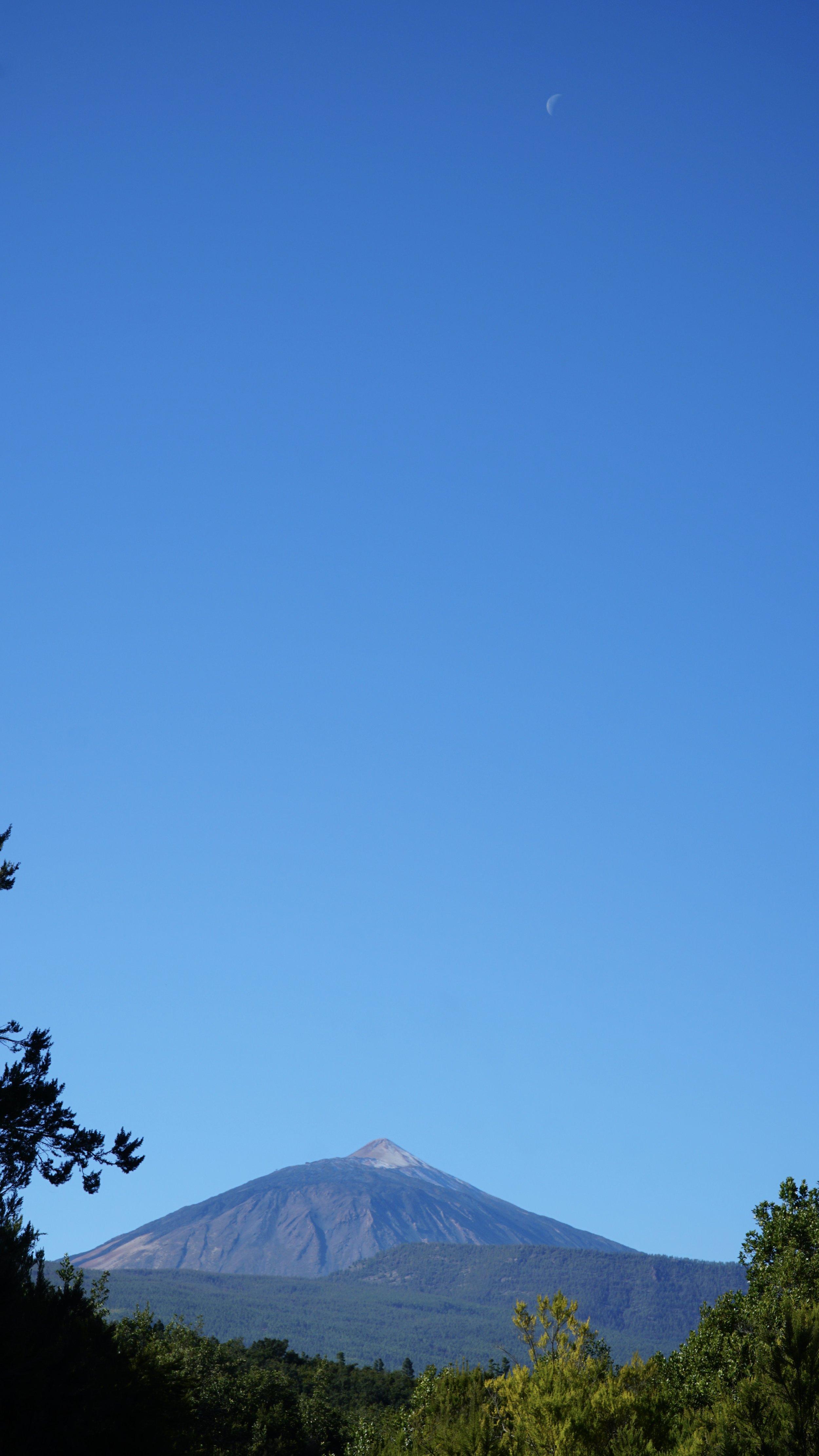 Månen over Teide